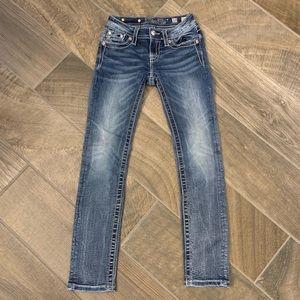 Miss Me Bottoms - Girls Miss Me Skinny Jeans JK70345 Size 10